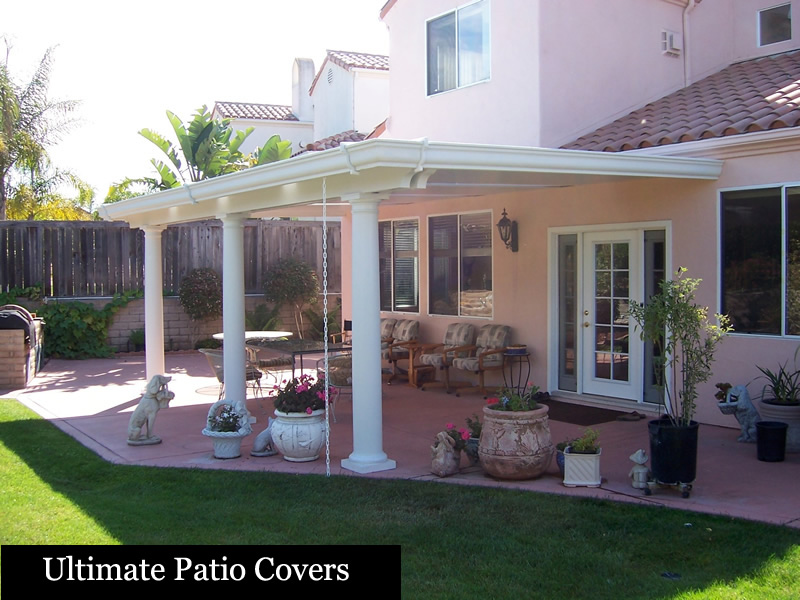 ... Alumawood Roof, The Heat Radiates Through The Aluminum, And Leaves Get  Caught In The Gutter. Our Ultimate Patio Cover Stops Heat Transfer And  Keeps You ...